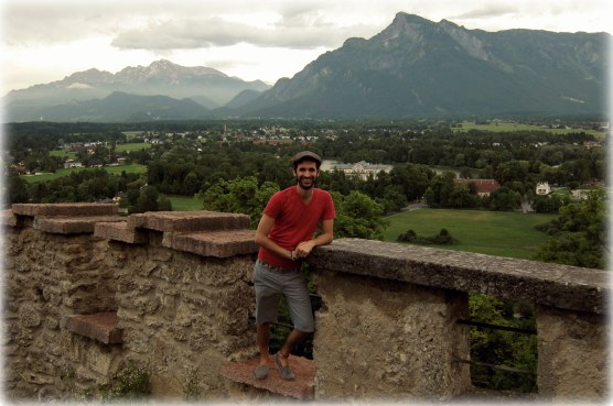 Overlooking a valley of Salzburg
