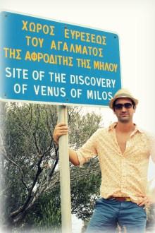At the spot where the famous Venus de Milo was found
