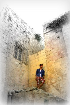 Inside the Mdina, a medieval walled town situated on a hill in the centre of Malta