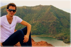 On the edge of the Taal Volcano in Tagaytay, Philippines