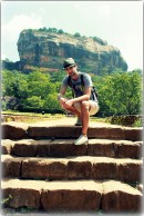 At Sigiriya (Lion's Rock). This site is a place with a large stone and ancient rock fortress and palace ruin in the central Matale District of Central Province, Sri Lanka