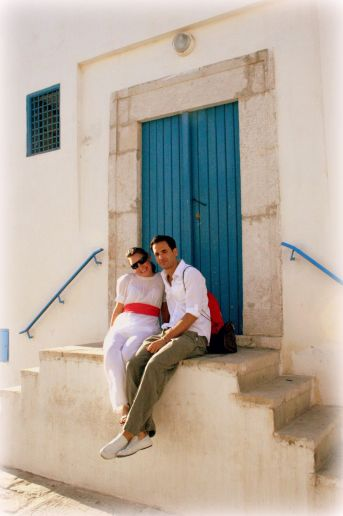 The famous blue doors of Tunis, Tunisia