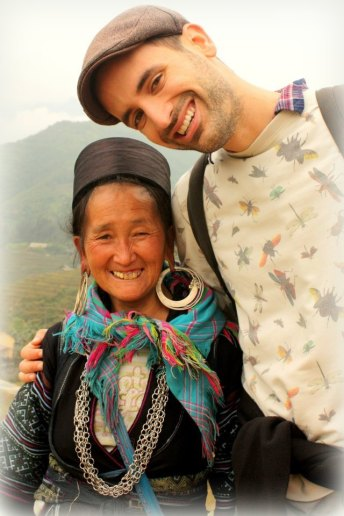 With a Hmong lady in the mountain of Vietnam near the border of China