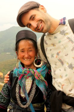 Meeting a member of the Hmong tribe in Sapa, Vietnam