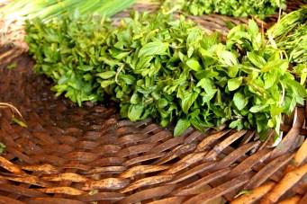 Fresh herbs at the Port Louis Bazaar