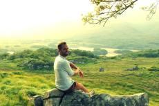 I really enjoyed sitting here and watching the sun set. How do you like my Irish Tan?