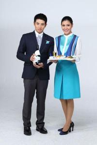 Bangkok Airways Cabin Crew uniform  Photo from Bangkok Airways