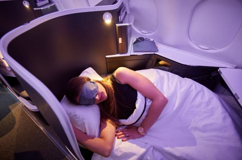 The world's longest and widest fully lie-flat bed in domestic business class