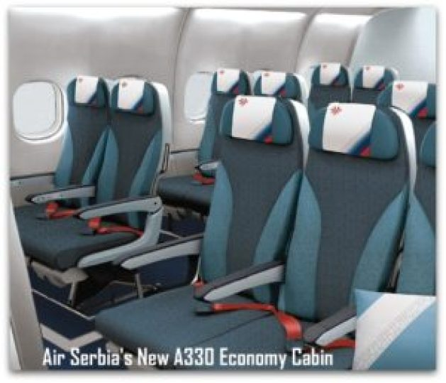 Air Serbia's New A330 Economy Cabin