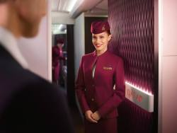 Qatar Airways cabin crew