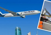 Kuwait Airways 777 Hits Jetway