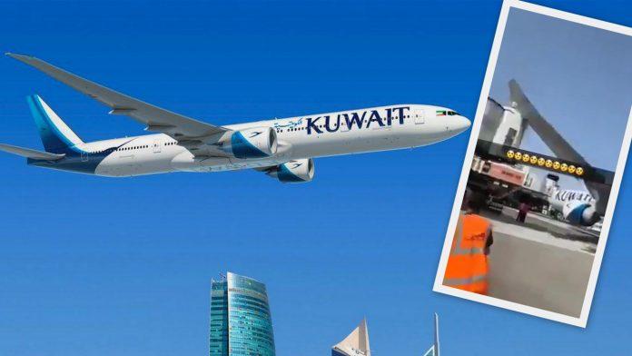 Kuwait Airways 777 Hits Jetway