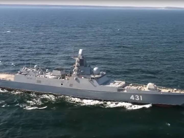 Russia's most modern frigate sails to Baltic Sea for final trials