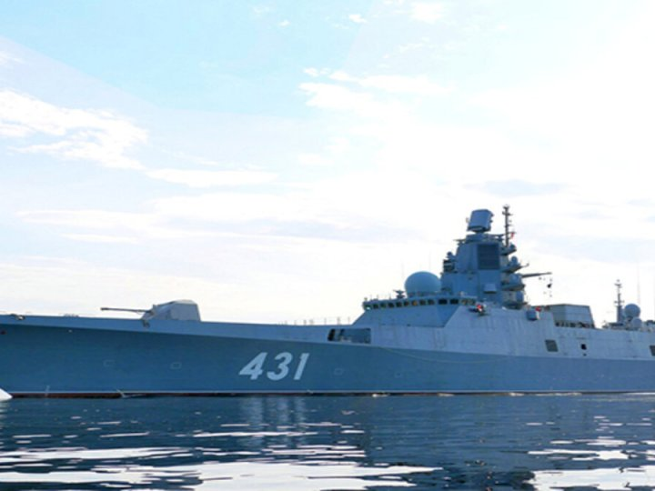 "The newest Russian frigate ""Admiral of the fleet Kasatonov"" tests anti-submarine complex ""Paket"""