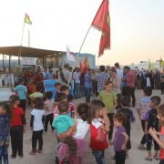 The march read the statement in solidarity with ezidi people
