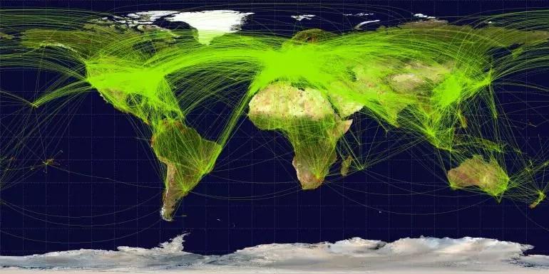global-air-travel-map