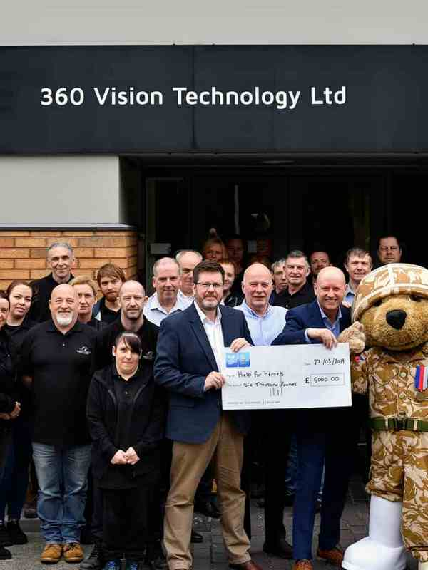 360 Vision Technology supports Help for Heroes charity