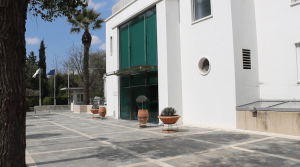 The Cypriot Parliament building looks much different than others in the world. Elections are quickly approaching and members of Parliament are spending a lot of time in meetings in preparation.