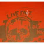 """This painting of a skull with the phrase """"Live Fast"""" can be seen in Krooks. The lightning bolt used for the letter """"S"""" is identical to the Nazi S.S. lightning bolts."""
