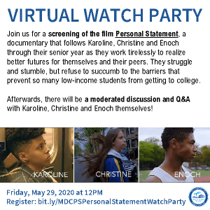 """Virtual Screening of """"Personal Statement"""" and Q & A"""