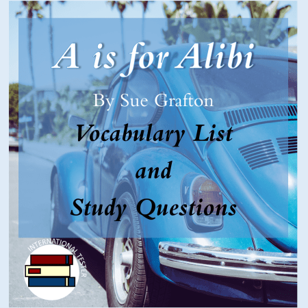 Cover for A is for Alibi study guide materials for SAT novel study