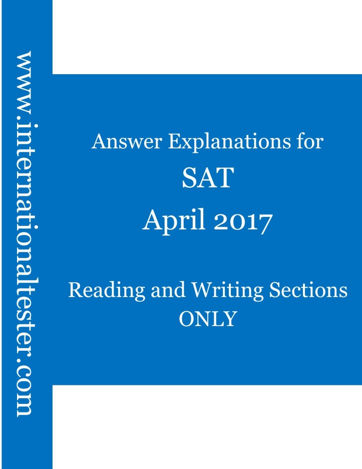 SAT Answer explanations for April 2017 QAS