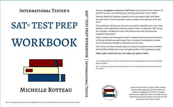 cover of SAT test prep workbook