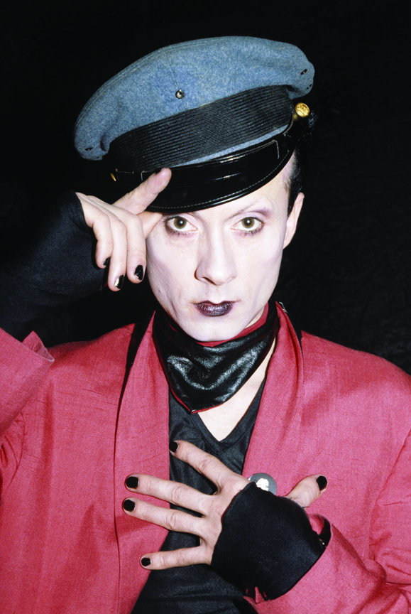 Klaus Nomi photographed in New York City, March 1979. © Marcia Resnick / Retna Ltd. ** HIGHER RATES APPLY ** CALL TO NEGOTIATE RATE ** © Marcia Resnick / Retna Ltd.