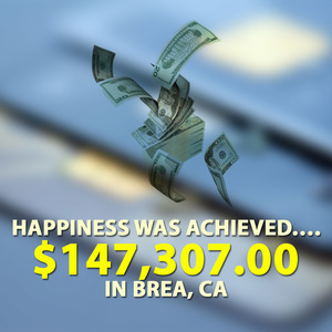 Happiness was achieved …. $147,307.00 in Brea, CA