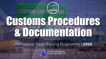 Customs Procedures & Documentation Online Course
