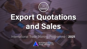Export Quotations & Sales - An Online Course