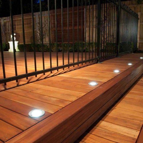 In floor deck lighting