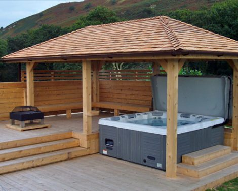 Hot Tub Enclosures with seating area