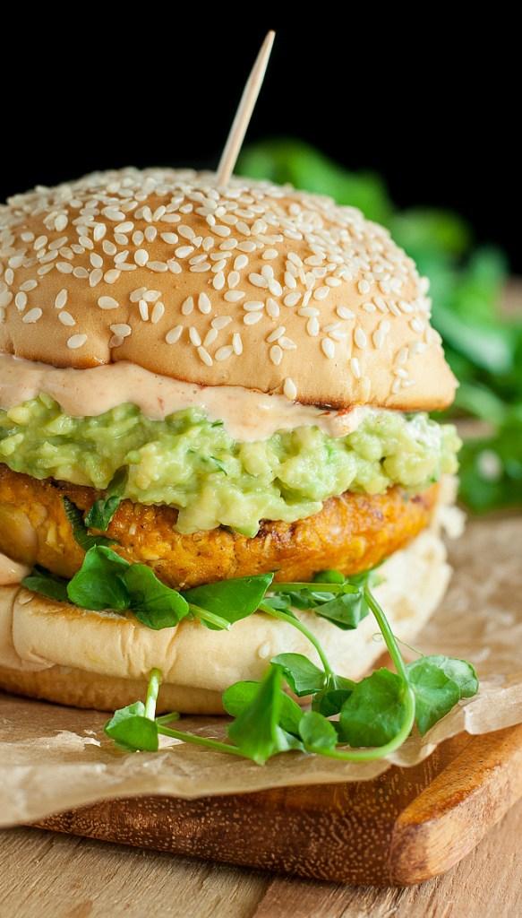 aChipotle Pumpkin Veggie Burgers
