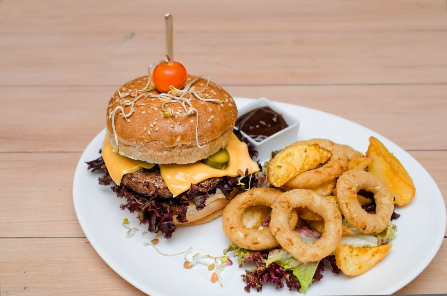 Crunchy Bittersweet Latino Burger