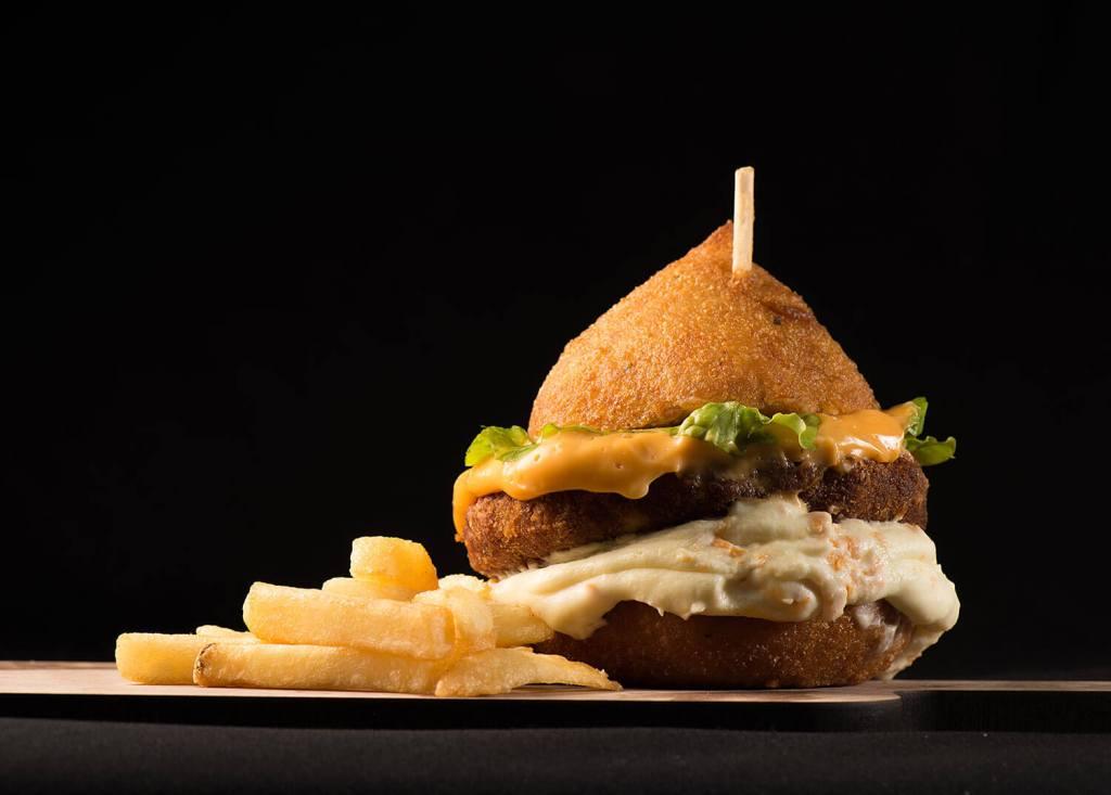 Brazilian Coxinha Burger