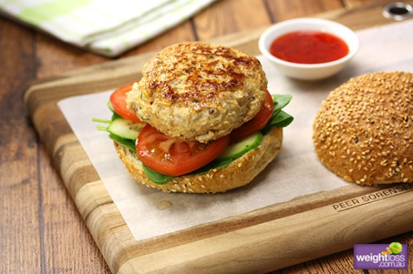 Rich results on Google's SERP when searching for 'Amazing Thai Chicken Burger image for Healthy Burger'