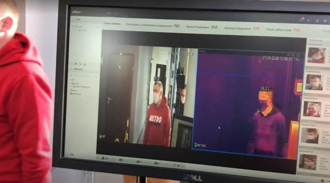 Badanie kamerą termowizyjną wychwyci osoby z gorączką oraz bez maseczek