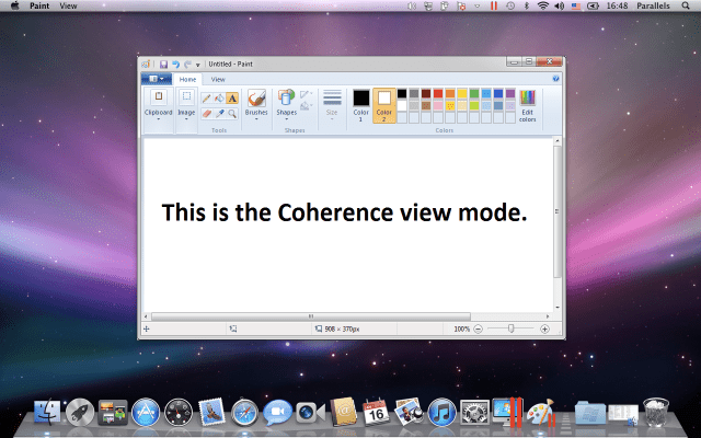 Coherence view mode