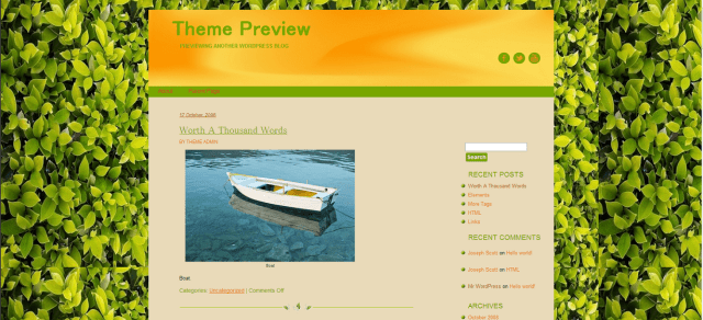 WordPress Organik Free WordPress Themes