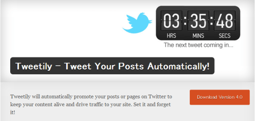 WordPress  Tweetily - Tweet Your Posts Automatically!  WordPress Plugins