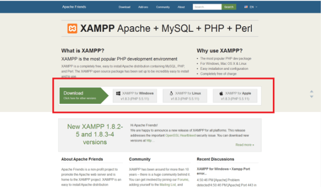 XAMPP Installers and Downloads for Apache Friends