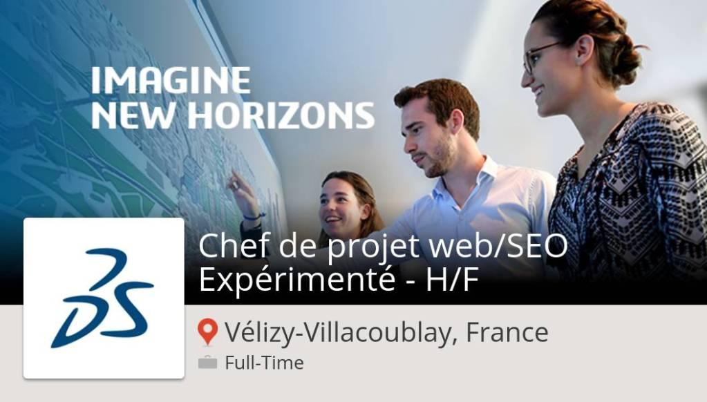 #DassaultSystèmes recrute un(e) #Chef de projet #web/SEO Expérimenté - H/F, post...