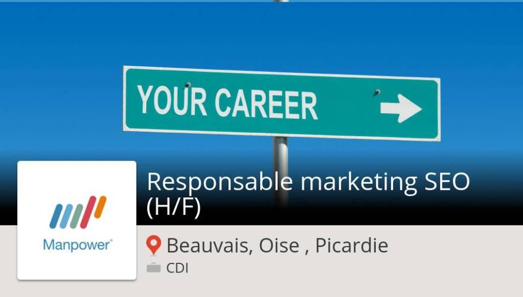 Découvrez ce #job: #Responsable marketing #SEO (H/F) chez #ManpowerFrance #Beauv...