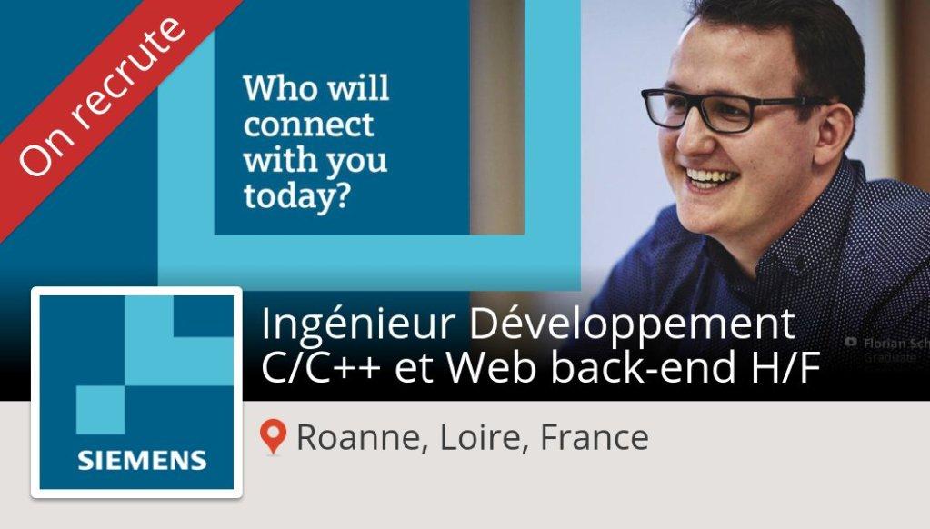 #Ingénieur Développement C/C++ et #Web back-end H/F needed in #RoanneLoireFrance...