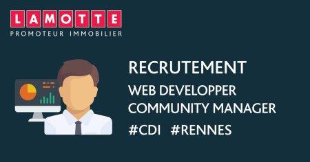 LAMOTTE recrute 1 Web Developper / Community Manager (H/F) en #CDI à #Rennes. #J...