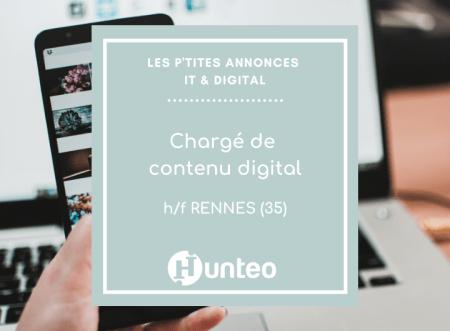 [OFFRE D'EMPLOI] #Digital #Rennes  Chargé(e) de contenu digital à Rennes  #R...