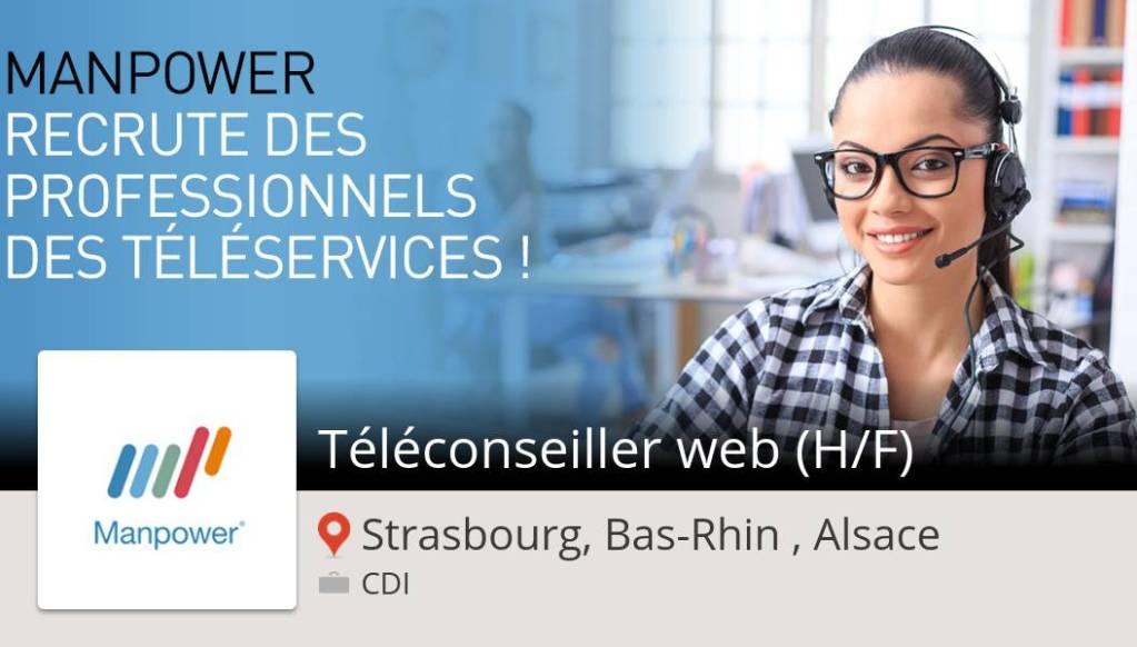 Télé#conseiller #web (H/F) (#job) recherché #StrasbourgBasRhinAlsace. #ManpowerF...
