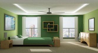 habitación-paredes-verdes