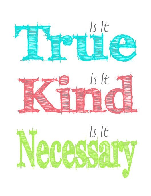 Is it true is it kind is it necessary